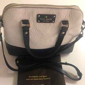 Black and white Kate spade bag